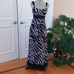 WHBM Chevron/animal print maxi dress